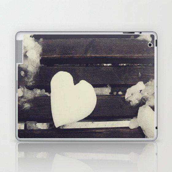 Snow heart Laptop & iPad Skin