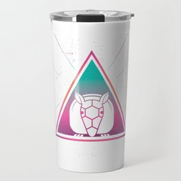 Colorful Giant Armadillo Geometrical Triangle Retro Style product Travel Mug