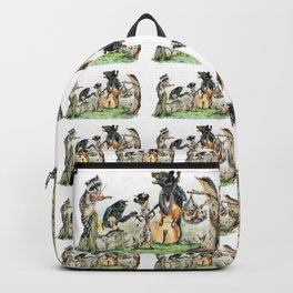 """ Bluegrass Gang "" wild animal music band Backpack"