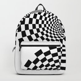 UV Sphere Top Illusion Black and White Backpack