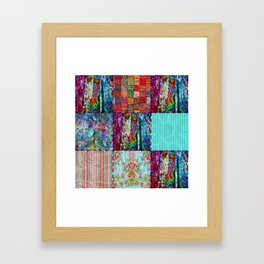 Boho Blocks Framed Art Print