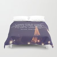 hemingway Duvet Covers featuring Hemingway by McQueen Photography