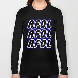 AFOL AFOL AFOL in Brick Font Logo Design [Alternate Colors] by Chillee Wilson Long Sleeve T-shirt