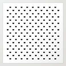 Black Cats Pattern Art Print