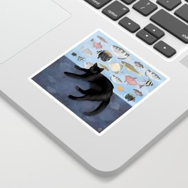 Ivy the Black Cat & The Fish Tank Sticker