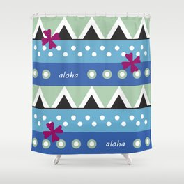 Hawaiian Tapa Shower Curtain