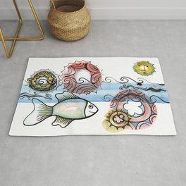 Life on the Earth - The Ocean Rug