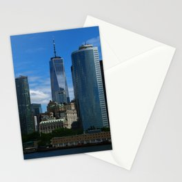 Manhattan View From Hudson River Stationery Cards