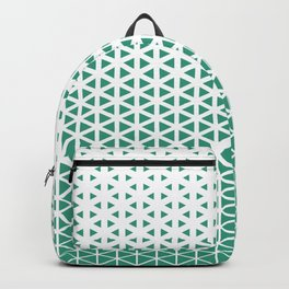 Halftone Mint Triangles Pattern Backpack