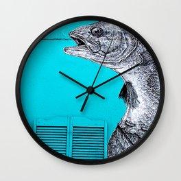 Fish Food Wall Clock