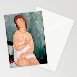 """Amedeo Modigliani """"Young Woman in a Shirt (The Little Milkmaid)"""" Stationery Cards"""
