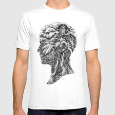 Portrait of Winter White Mens Fitted Tee MEDIUM