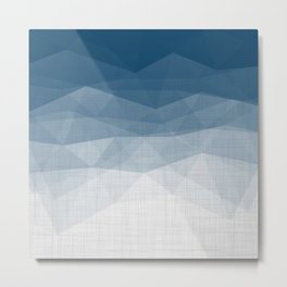 Imperial Topaz - Geometric Triangles Minimalism Metal Print