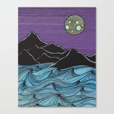 Meet Me Under the Moon Canvas Print