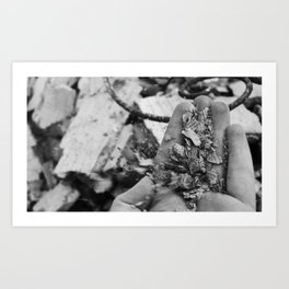 You tried to pick up the ashes, but they crumbled in your hands Art Print