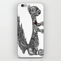 greg guillemin iPhone & iPod Skins featuring Squirrel by Greg Phillips by SquirrelSix