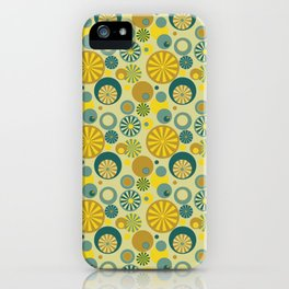 Circle Frenzy - Yellow iPhone Case