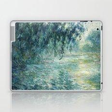 1898-Claude Monet-Morning on the Seine- 73 x 91 Laptop & iPad Skin