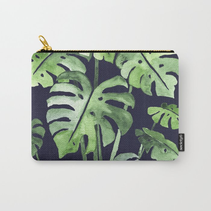Delicate Monstera Blue #society6 Carry-All Pouch
