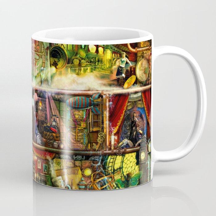 The Fantastic Voyage - a Steampunk Book Shelf Coffee Mug