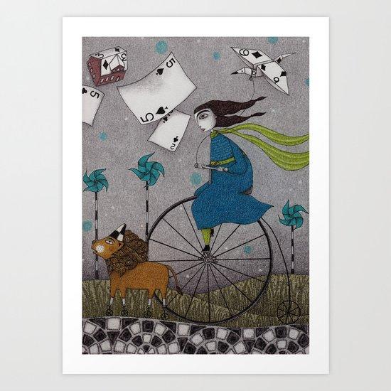 I Follow the Wind Art Print