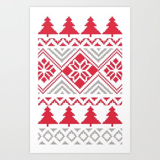 Cold December Night Art Print