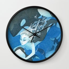 Orca Guardian Mermaid Wall Clock