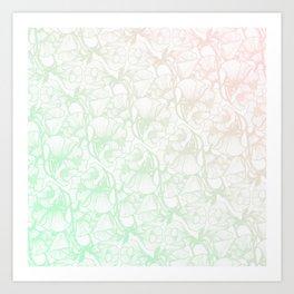 Glanzende Bloem Art Print
