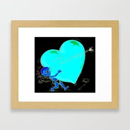 To my Valentine.. Framed Art Print