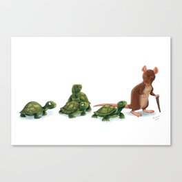 Awkward Family Canvas Print