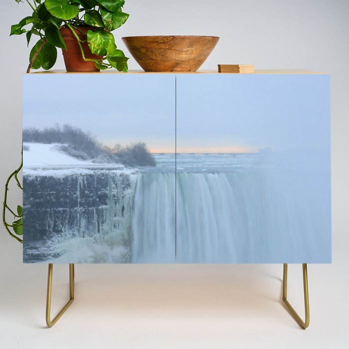 Niagara Falls in Winter Credenza by Christine aka stine1 on Society6