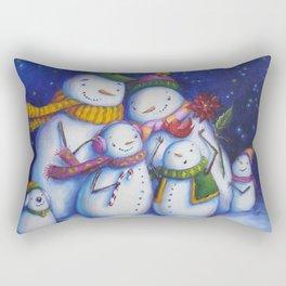 Snow Family Portrait Rectangular Pillow
