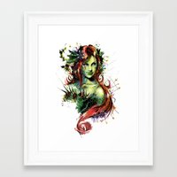 poison ivy Framed Art Prints featuring Poison Ivy by Vincent Vernacatola