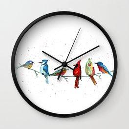 5 Birds Wall Clock