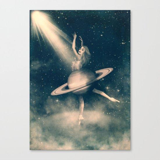 When Saturn Starts Dancing Canvas Print