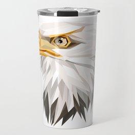 Triangular Geometric American Bald Eagle Head Travel Mug