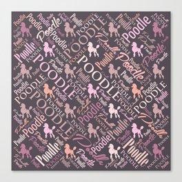 Poodle Word Art Canvas Print