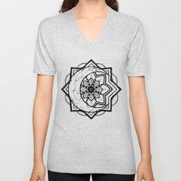 Mandala Moon Unisex V-Neck