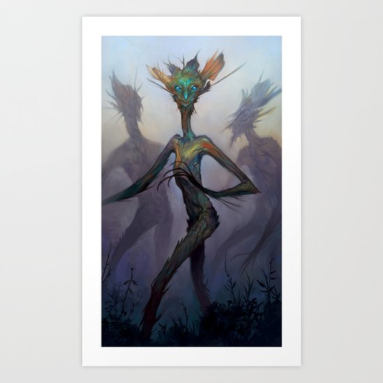 Twisted Wisp Eaters Art Print