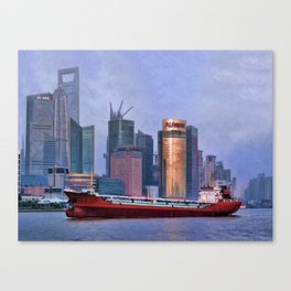 Huangpu River from The Bund Canvas Print