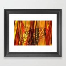 The beauty uncertain, behind its light curtain Framed Art Print