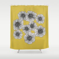 doodle Shower Curtains featuring DOODLE by Isabella Salamone