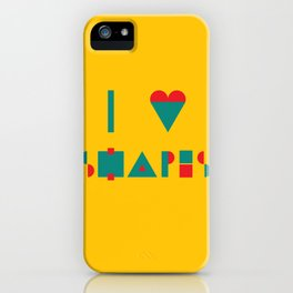 I heart Shapes iPhone Case
