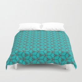 Hex Pattern 65 - Teal Duvet Cover