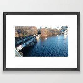 Rowing under the Bridge Framed Art Print