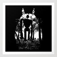 miyazaki Art Prints featuring Miyazaki Forest by kamonkey