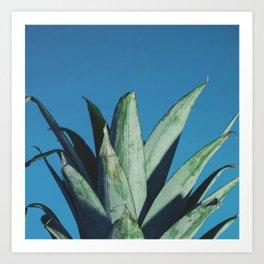 Pineapple head Art Print