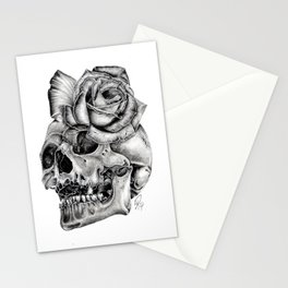 Skull Morph Stationery Cards