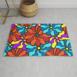 floral background. field of multi colored bright summer colors for the background Rug