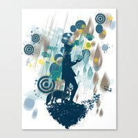 le petit prince Canvas Prints featuring le petit prince 2010 by frederic levy-hadida